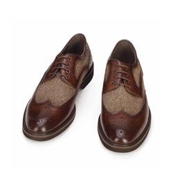 Men's shoes, brown, 93-M-516-4-42, Photo 1