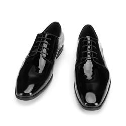 Buty do garnituru z lakierowanej skóry o smukłym nosku, czarny, 93-M-913-1-39, Zdjęcie 1