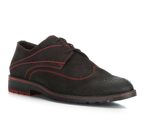 Buty męskie, czarno - czerwony, 83-M-405-1L-40, Zdjęcie 1