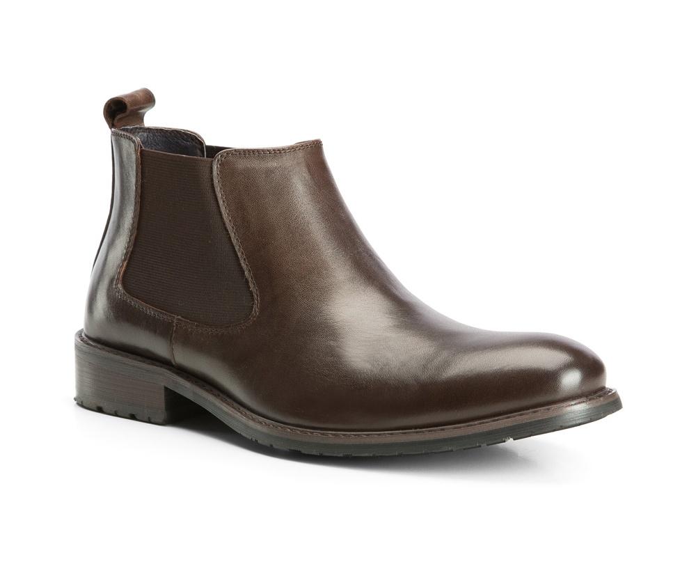 Обувь мужскаяТуфли мужские. Изготовленные по технологии Hand Made выполнены полностью из натуральной итальянской кожи наивысшего качества. Подошва  сделана из качественного синтетического материала. Эта модель безусловно, должна привлечь внимание мужчин, которые любят свободный городской стиль.<br><br>секс: мужчина<br>Цвет: коричневый<br>Размер EU: 44<br>материал:: Натуральная кожа<br>примерная высота каблука (см):: 3,5<br>примерная высота голенища (см): 10,5