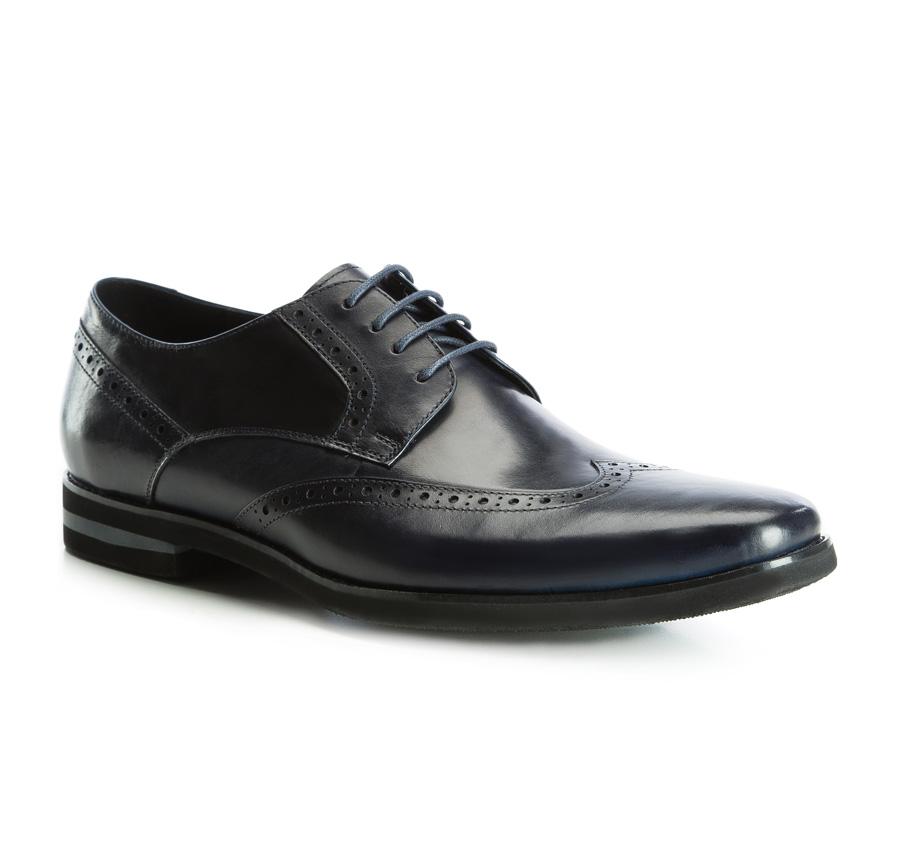 Обувь мужскаяТуфли мужские. Изготовленные по технологии Hand Made выполнены полностью из натуральной итальянской кожи наивысшего качества. Подошва  сделана из качественного синтетического материала. Эта модель безусловно, должна привлечь внимание мужчин, которые любят свободный городской стиль.<br><br>секс: мужчина<br>Цвет: синий<br>Размер EU: 45<br>материал:: Натуральная кожа<br>примерная высота каблука (см):: 3