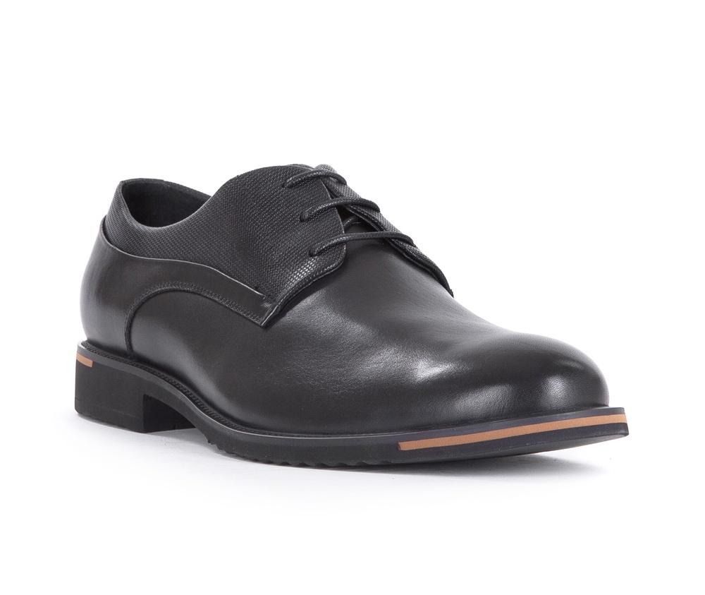 Обувь мужскаяТуфли мужские типа Дерби. Изготовленные по технологии Hand Made и выполнены полностью из натуральной итальянской кожи наивысшего качества. Подошва полностью сделана из качественного синтетического материала. Эта модель идеально подходит для тех кому нравится классика и функциональность.<br><br>секс: мужчина<br>Цвет: черный<br>Размер EU: 42<br>материал:: Натуральная кожа