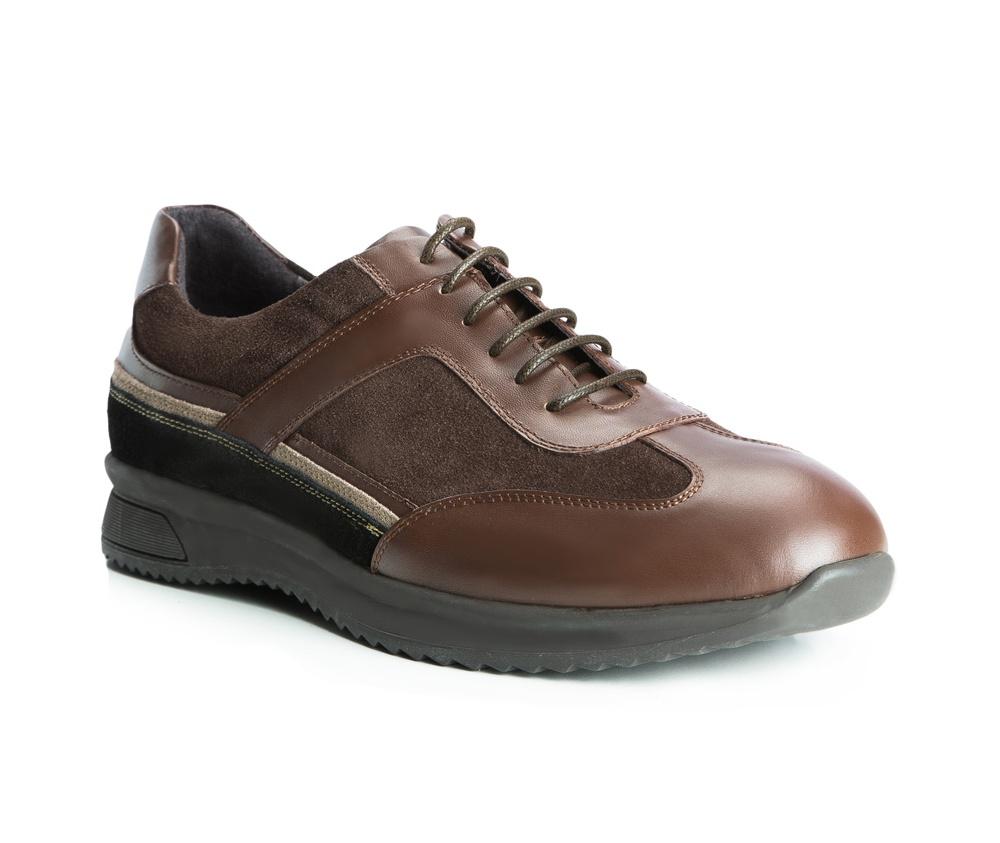 Обувь мужскаяТуфли мужские. Изготовленные по технологии Hand Made выполнены полностью из натуральной итальянской кожи наивысшего качества. Подошва  сделана из качественного синтетического материала. Эта модель безусловно, должна привлечь внимание мужчин, которые любят свободный городской стиль.<br><br>секс: мужчина<br>Цвет: коричневый<br>Размер EU: 45<br>материал:: Натуральная кожа