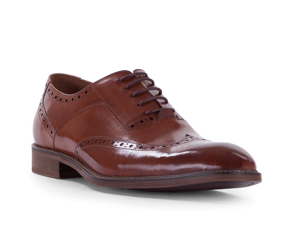 Обувь мужскаяТуфли мужские типа  Brogues. Изготовленные по технологии Hand Made и выполнены полностью из натуральной итальянской кожи наивысшего качества. Подошва  сделана из качественного синтетического материала. Стильный вид этой обуви придется по вкусу каждому. Модель идеально подходит к классической одежде.<br><br>секс: мужчина<br>Цвет: коричневый<br>Размер EU: 43<br>материал:: Натуральная кожа
