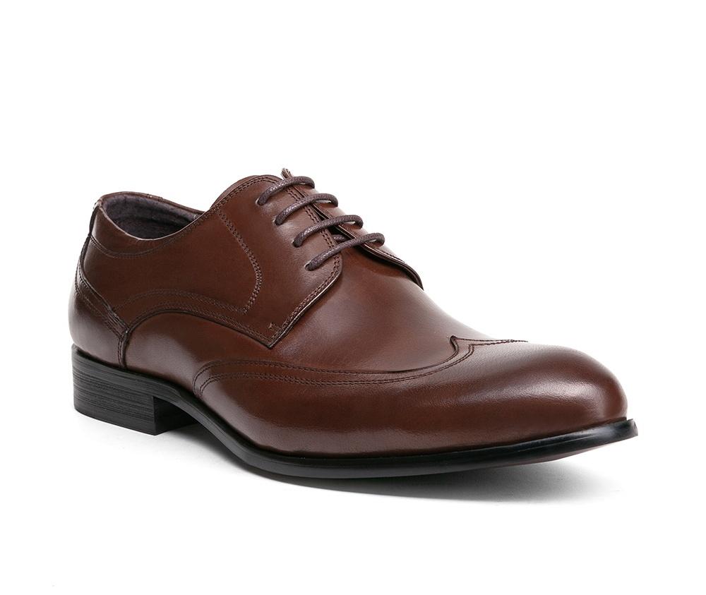 Обувь мужскаяТуфли мужские, выполнены по технологии Hand Made из натуральной итальянской кожи наивысшего качества.  Подошва сделана из качественного синтетического материала. Классическая модель идеально подчеркнет элегантный  образ. натуральная кожа  натуральная кожа синтетический материал<br><br>секс: мужчина<br>Цвет: коричневый<br>Размер EU: 41<br>материал:: Натуральная кожа<br>примерная высота каблука (см):: 3