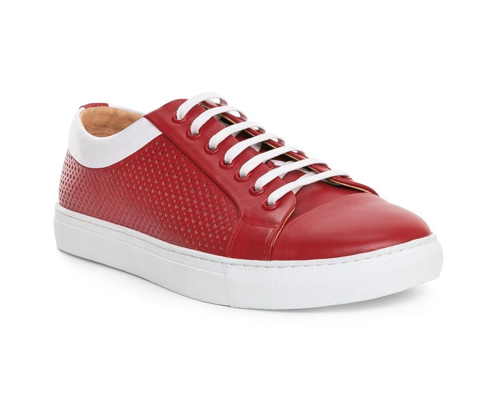 Обувь мужская Wittchen 84-M-929-3, красныйТуфли мужские типа Casual  выполнены по технологии \\Hand Made\\ из натуральной итальянской кожи наивысшего качества.  Подошва сделана из качественного синтетического материала. Благодаря перфорированной отделке , модель легкая и дышащая. натуральная кожа  натуральная кожа синтетический материал<br><br>секс: мужчина<br>Размер EU: 40<br>материал:: Натуральная кожа