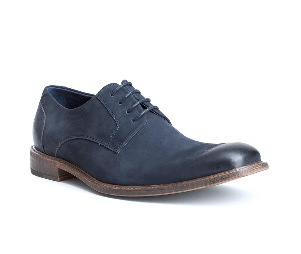 Обувь мужскаяТуфли мужские типа Дерби. Изготовленные по технологии Hand Made и выполнены полностью из натуральной итальянской кожи наивысшего качества. Подошва полностью сделана из качественного синтетического материала. Эта модель идеально подходит для тех кому нравится классика и функциональность.<br><br>секс: мужчина<br>Цвет: синий<br>Размер EU: 39<br>материал:: Натуральная кожа<br>примерная высота каблука (см):: 3