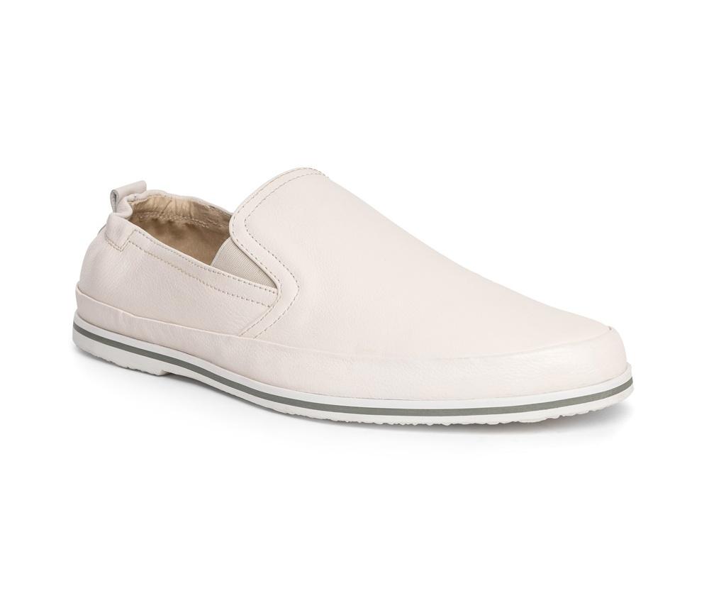 Обувь мужскаяТуфли мужские типа  Мокасины  выполнены по технологии Hand Made из натуральной итальянской кожи наивысшего качества.  Подошва сделана из качественного синтетического материала. Простой универсальный фасон  отлично сочетается с летним гардеробом. натуральная кожа  натуральная кожа синтетический материал<br><br>секс: мужчина<br>Цвет: белый<br>Размер EU: 43<br>материал:: Натуральная кожа