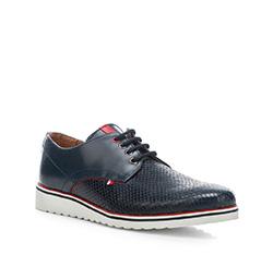 Men's shoes, navy blue, 84-M-201-7-44, Photo 1