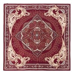 Women's scarf, burgundy- beige, 91-7D-S31-X3, Photo 1