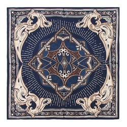 Women's scarf, navy blue-beige, 91-7D-S31-X4, Photo 1