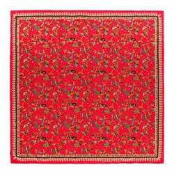 WOMEN'S SHAWL, red-green, 91-7D-S40-X2, Photo 1