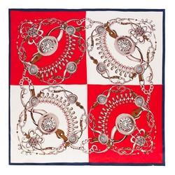Chusta damska, czerwono - biały, 87-7D-S22-X6, Zdjęcie 1