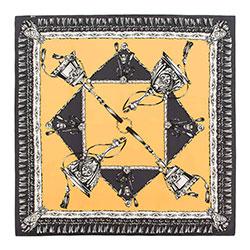 Chusta damska, żółto - czarny, 88-7D-S22-X1, Zdjęcie 1