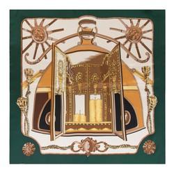 Chusta damska, zielono - brązowy, 88-7D-S22-X4, Zdjęcie 1
