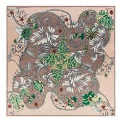 Chusta damska, beżowo - zielony, 88-7D-S22-X8, Zdjęcie 1