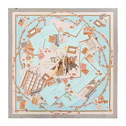 Chusta damska, niebiesko - beżowy, 88-7D-S31-X14, Zdjęcie 1
