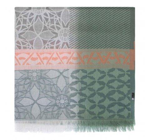Damski szal wielokolorowy, zielono - pomarańczowy, 91-7D-X10-Z, Zdjęcie 1