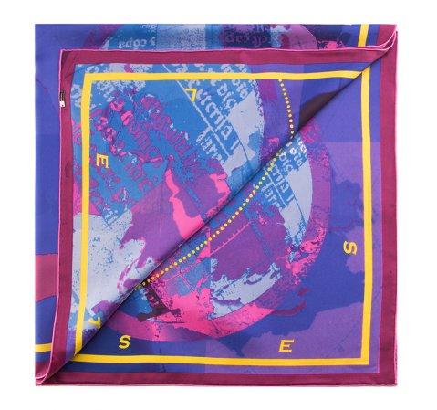 Chusta damska, fioletowo - różowy, 85-7D-S21-X4, Zdjęcie 1