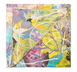 Chusta damska, zielono - fioletowy, 85-7D-S22-X1, Zdjęcie 1