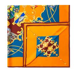 Chusta damska, niebiesko - pomarańczowy, 84-7D-S31-X13, Zdjęcie 1