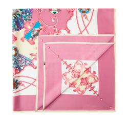 Chusta damska, różowo - biały, 84-7D-S31-X14, Zdjęcie 1