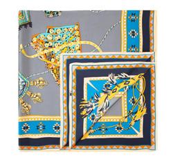 Chusta damska, szaro - niebieski, 84-7D-S31-X15, Zdjęcie 1