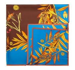 Chusta damska, niebiesko - brązowy, 84-7D-S25-X01, Zdjęcie 1