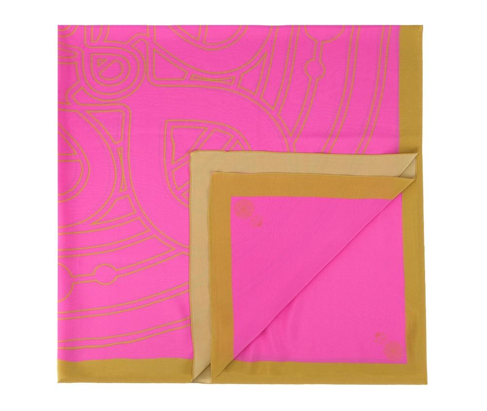 Платок женскийЖенский платок выполнен  из благородного шелка с знаком наивысшего качества King Silk. Сочетание роскошного узора  мандалы, символом гармонии и совершенства, и материала, модель добавляет элегантности каждому образу.<br><br>секс: женщина<br>Цвет: розовый<br>материал:: Шелк<br>высота (см):: 140<br>ширина (см):: 140