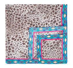 Chusta damska, brązowo - niebieski, AP-7-091-11, Zdjęcie 1