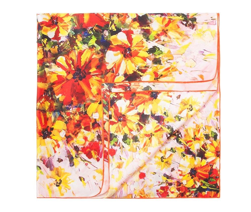 Платок женский Wittchen 83-7D-S21-X1, многоцветныйЖенский платок выполнен из шелка с знаком наивысшего качества King Silk.  В модели преобладают теплые тона и оригинальные дизайн , что  гарантирует удовольствие от использования.<br><br>секс: женщина<br>Цвет: разноцветный<br>материал:: Шелк