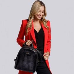 Women's backpack, black, 15-4-228-1, Photo 1