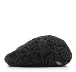 Czapka damska, czarny, 85-HF-005-1, Zdjęcie 1