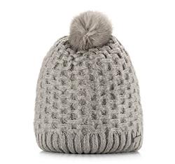 Women's hat, grey, 85-HF-008-8, Photo 1
