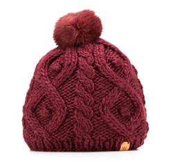 Women's hat, burgundy, 85-HF-009-2, Photo 1
