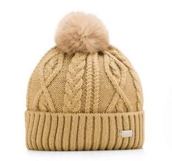 Women's hat, light brown, 85-HF-014-5, Photo 1
