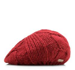 Czapka damska, czerwony, 85-HF-020-3, Zdjęcie 1