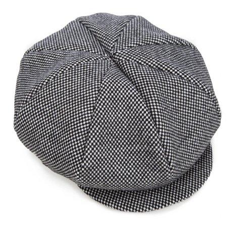 Czapka damska, czarno - biały, 85-HF-351-K, Zdjęcie 1