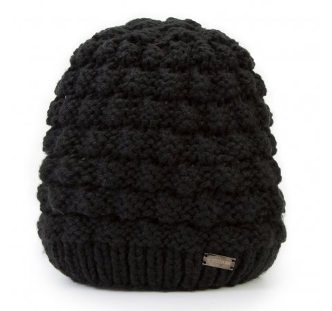 Czapka damska, czarny, 87-HF-014-1, Zdjęcie 1