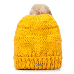 Czapka damska, żółty, 87-HF-200-Y, Zdjęcie 1