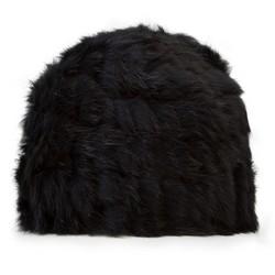 Czapka damska, czarny, 89-HF-012-1, Zdjęcie 1