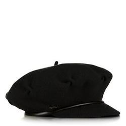 Czapka damska, czarny, 89-HF-100-1, Zdjęcie 1