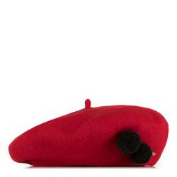Czapka damska, czerwony, 89-HF-101-2, Zdjęcie 1