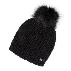 Women's beanie, black, 91-HF-001-1, Photo 1