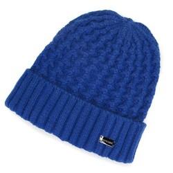 Damska czapka o grubym splocie, niebieski, 91-HF-003-2, Zdjęcie 1