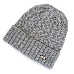 Damska czapka o grubym splocie, szary, 91-HF-003-88, Zdjęcie 1