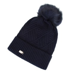Women's beanie, navy blue, 91-HF-008-7, Photo 1