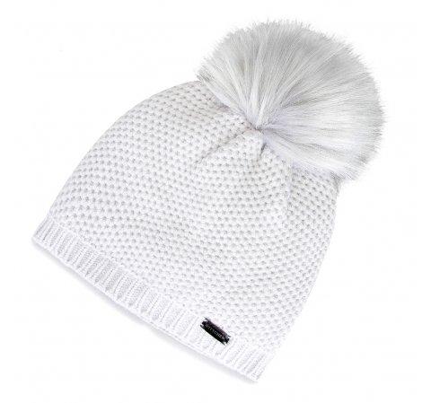 Damska czapka z pomponem elegancka | WITTCHEN, jasny szary, 91-HF-009-8, Zdjęcie 1
