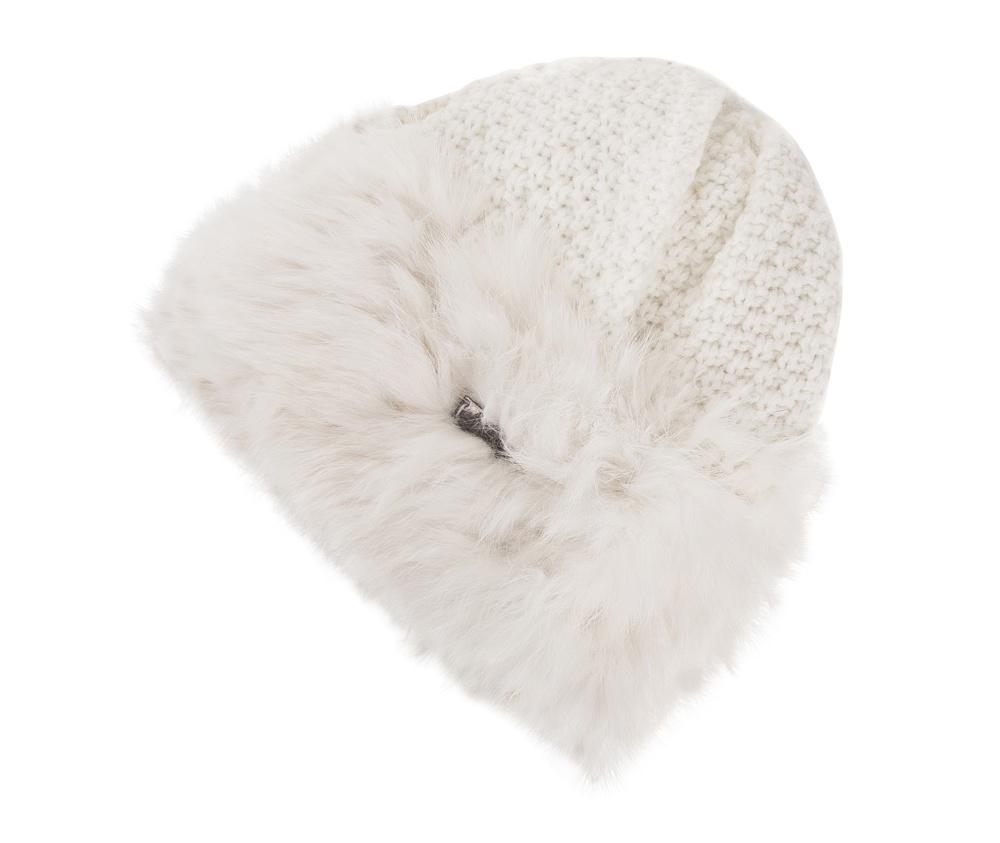 Шапка женскаяЖенская шапка из высококачественного материала с интересным плетением нити. Помпон из натурального меха енота украшает верх шапки чем придает  элегантности в повседневный стиль.<br><br>секс: женщина<br>Цвет: белый<br>материал:: Акрил