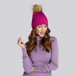 Winter's winter hat with pom pom, pink, 93-HF-013-P, Photo 1